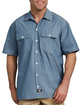 Ss Chambray Shirt-Dickies
