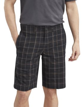 Stretch Plaid Short-