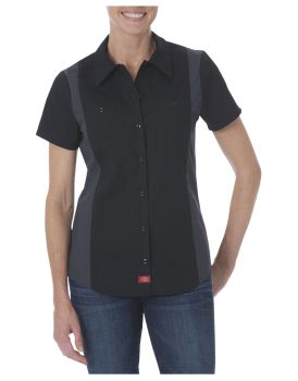 Dow Womens Industrial Ss Clrblk Shirt-Dow