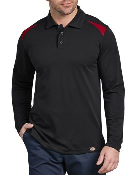 Dow Industrial Mens Ls Auto Polo-Dow