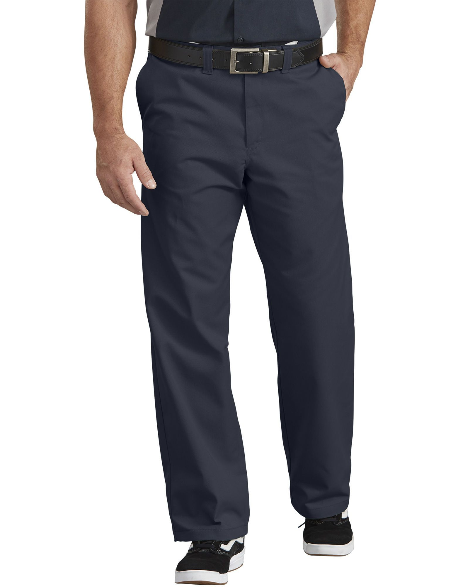 P- Dickies Flat Front Comfort Pant-Dow