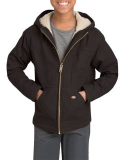Boys Sherpa Lined Duck Jacket