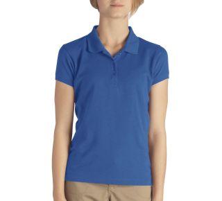 Girls Short Sleeve Pique Polo