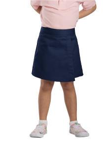 Girls Faux Wrap Skirt