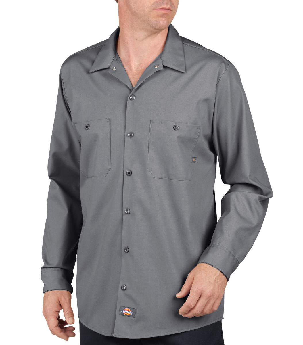 Industrial Long Sleeve Work Shirt-Dickies Industrial
