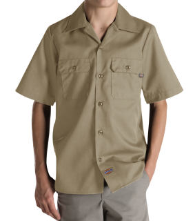 Boys Twill Short Sleeve Shirt