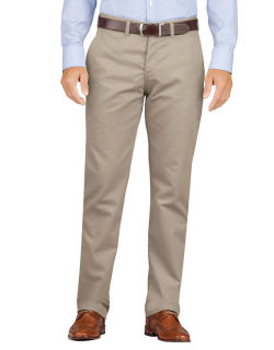 Dickies Khaki Flat Front Pant