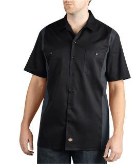 Two-Tone Short Sleeve Work Shirt