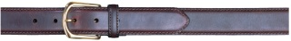 "1-3/8"" Plain Career Brown Belt-"