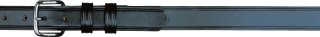 "1-1/4"" Garrison Plain Black Belt-"