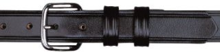 "1-1/4"" Garrison Plain Black Belt-Dutyman"