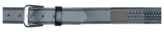 "1-1/2"" Garrison Basket Weave Black Belt-"