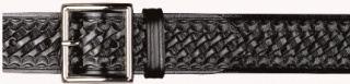 "Thick Leather 1-3/4"" Garrison Basket Weave Belt"