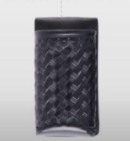 2 oz.Open Top Mace Holder Basket Weave-