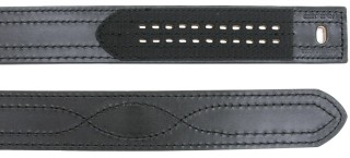 "2-1/4"" Sam Brown Plain Hook & Loop Buckleless Belt"
