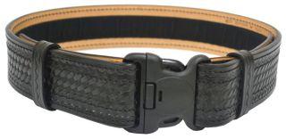 """2-1/4"""" Plastic Buckle Basketweave Leather Duty Belt-Dutyman"""