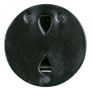 Leather Round Badge Holder - Plain