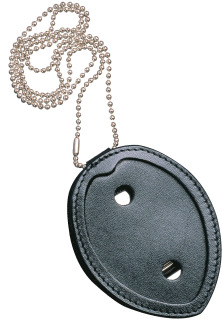 Recessed Shield Neck Leather Badge Holder