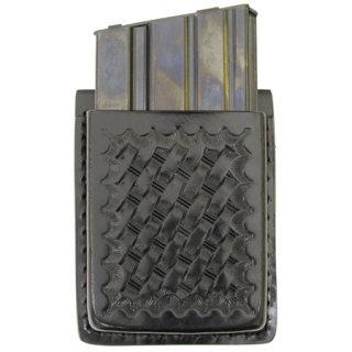 Leather AR-15 Mag Holder - Basket Weave-