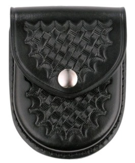 Rounded Bottom Closed Single Cuff Case - Basket Weave