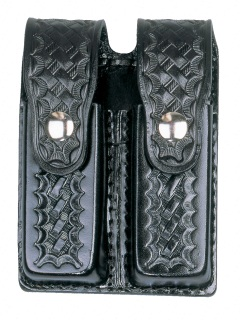 8511 Leather Double Magazine Holder-