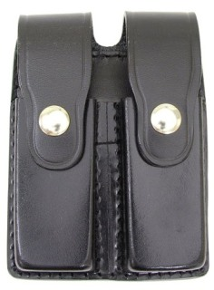 Leather Double Magazine Holder for 9mm - Plain