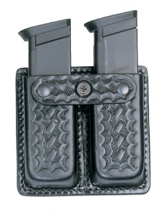 8511P Leather Double Open Top Magazine Holder-Dutyman