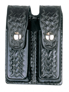 8521 Leather Double Magazine Holder-