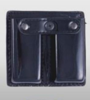 8531P Leather Double Open Top Magazine Holder-Dutyman