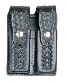 Leather Double Magazine Holder for .45 Caliber - Clarino