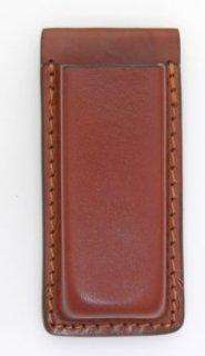 Leather Single Magazine Holder for 9mm - Plain - Brown-Dutyman