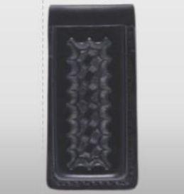 8721P Leather Single Open Top Magazine Holder-