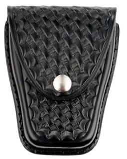 Leather Closed Standard Single Cuff Case - Basket Weave