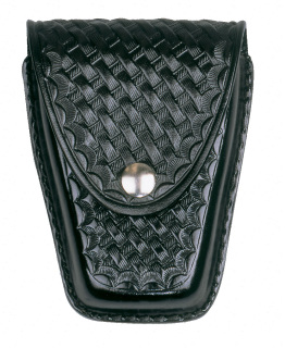 Leather Closed Standard Single Cuff Case - Basket Weave-