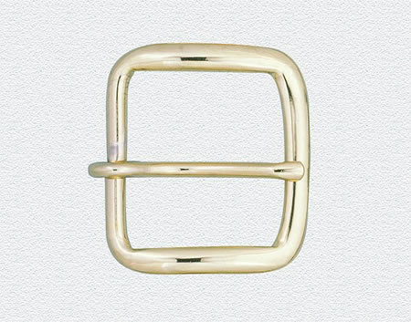 "Square Buckle For 1-1/4"" Garrison Belt - Gold-Dutyman"