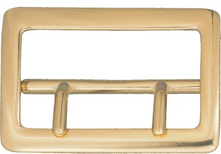 "2-1/4"" Sam Brown Belt Buckle - Solid Brass (Nickel)-Dutyman"