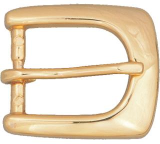 """3/4"""" Floral Ranger Belt Buckle - Gold-"""