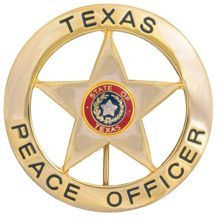 Texas Peace Officer Round with Star-Dutyman