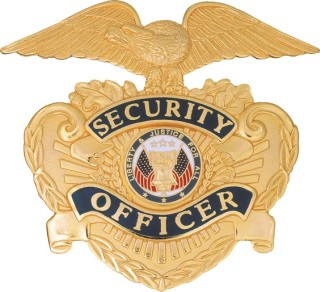 Security Officer Hat Badge / Eagle Shield-