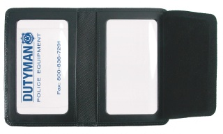 Leather Id Case With Two Windows-Dutyman