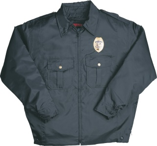 Windbreaker with Removable Liner - Navy-