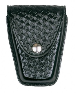 Large Single Closed Cuff Case - Basket Weave-Dutyman