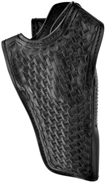 Basketweave Leather Mid Ride Revolver Holster