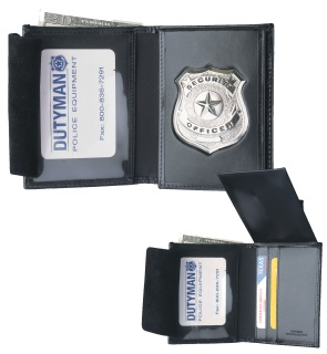Leather Bi-Fold Wallet With Shield-