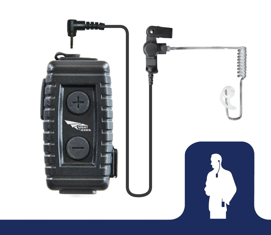BW-NTX5033_Nighthawk Bluetooth Lapel Microphone-Ear Phone Connection