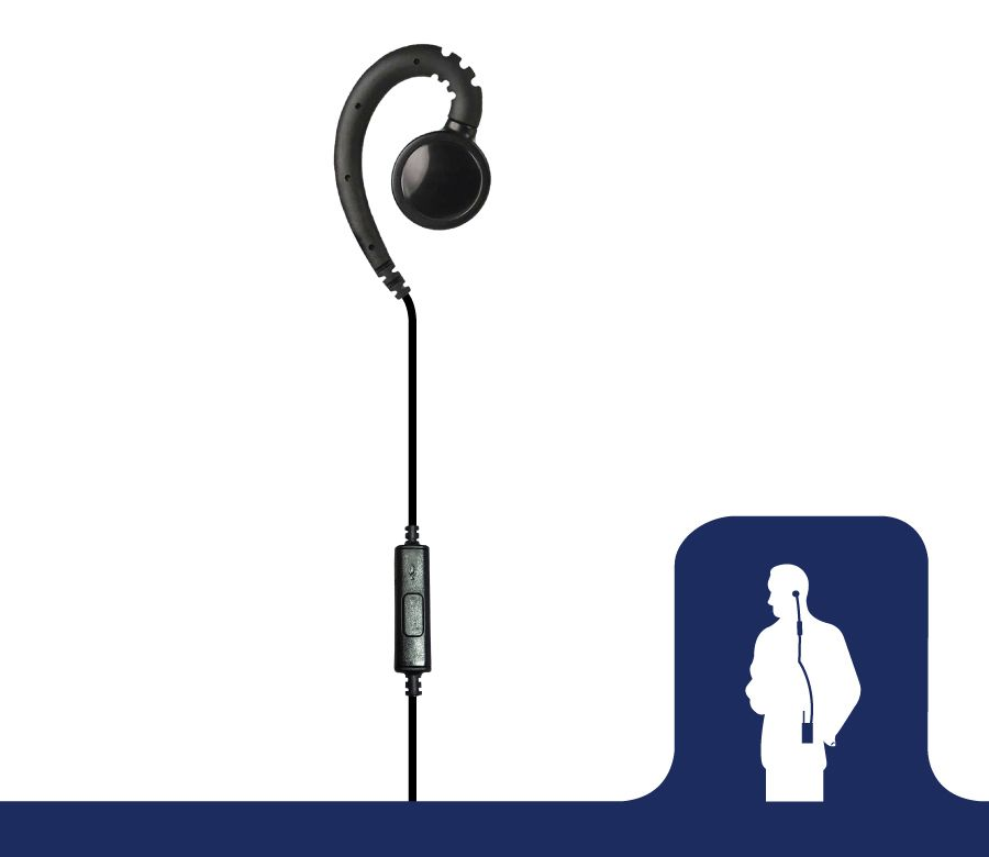 EH PTT B01_iHook PTT with Inline Microphone-Ear Phone Connection