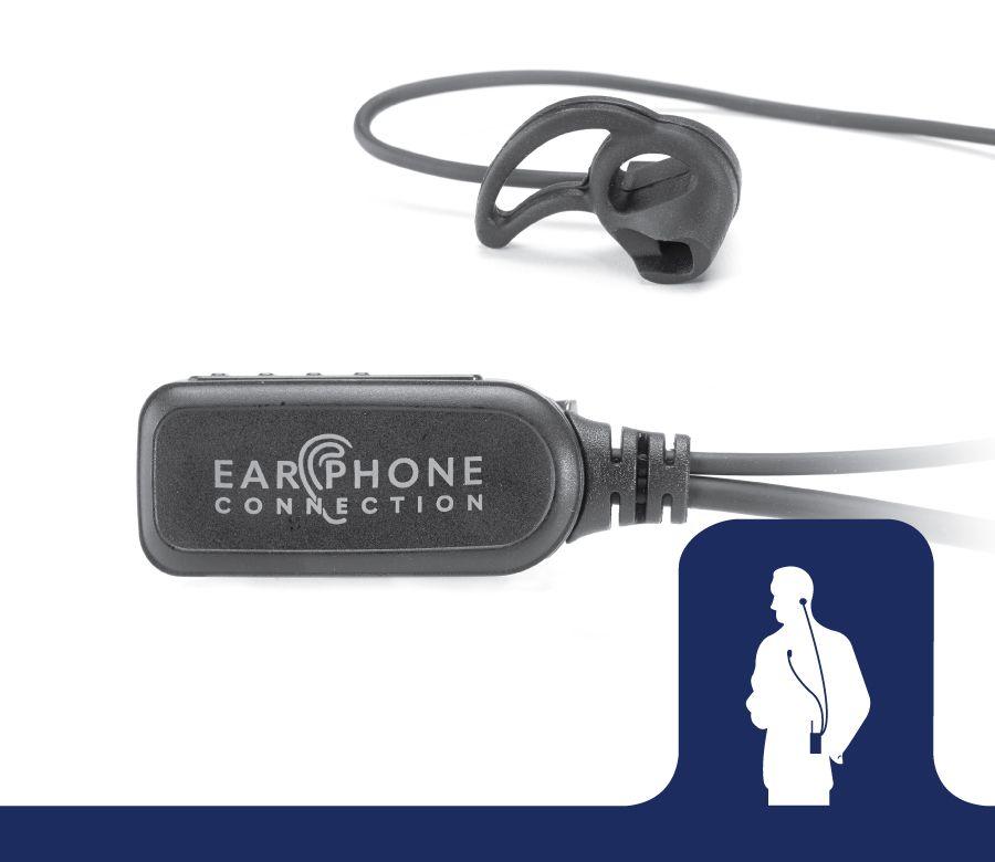 EP1303M1_Hawk EC M1 Tubeless Lapel Microphone-Ear Phone Connection