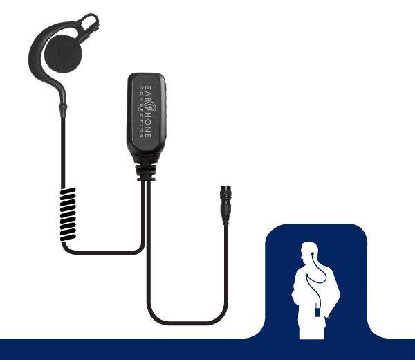 EP205EC_Owl Large Speaker Lapel Microphone-Ear Phone Connection