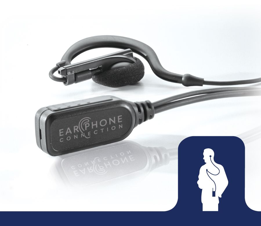 EP223EC_Owl EC Large Speaker Earhook Lapel Microphone-Ear Phone Connection