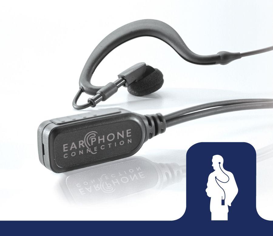 EP348EC_Falcon EC Earhook Lapel Microphone-Ear Phone Connection